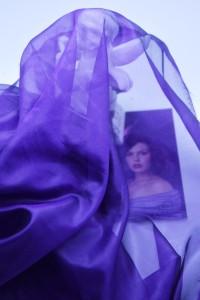 paarse chiffon